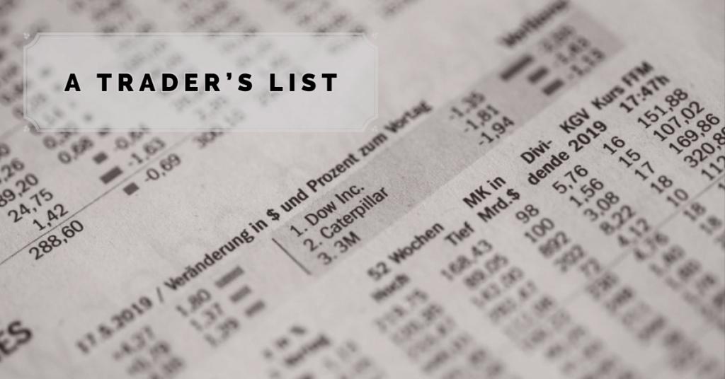 Lista tradera w każdym stylu handlowym